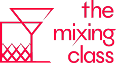 the mxing class logo in red and white